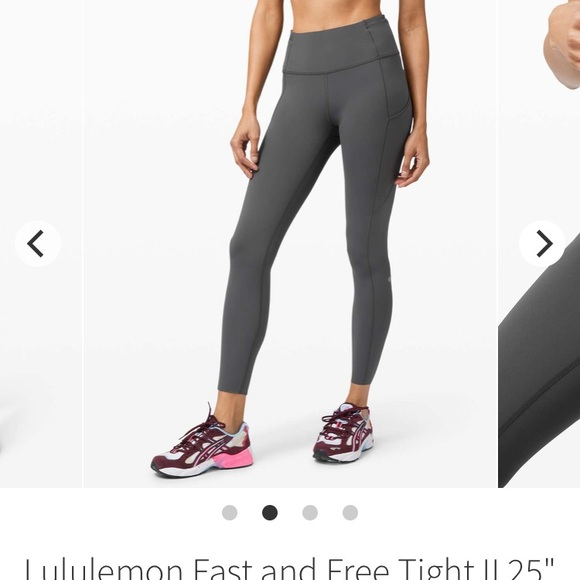 """Lululemon """"fast and free"""" tights"""